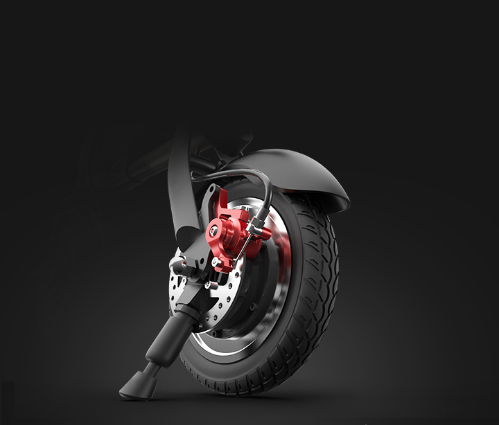 Front and Rear Disc Brakes Ensure Riding Safety